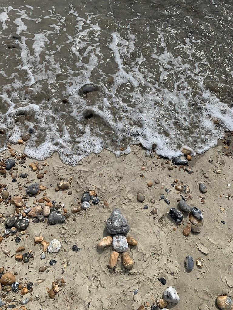 Rock art by the sea
