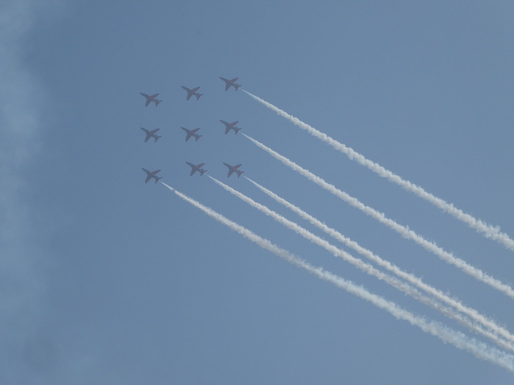 The Red Arrows Diamond Nine Formation