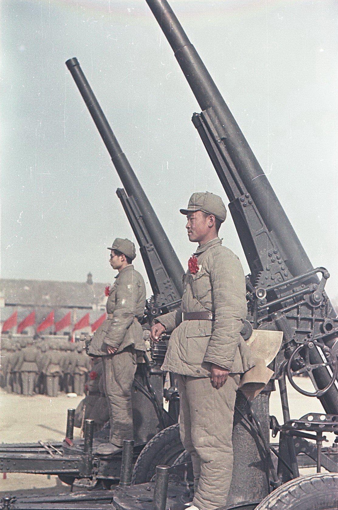 1949. Зенитчики Народно-освободительной армии Китая (НОА). 21.12.