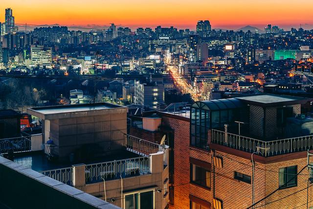 Itaewon at sunset