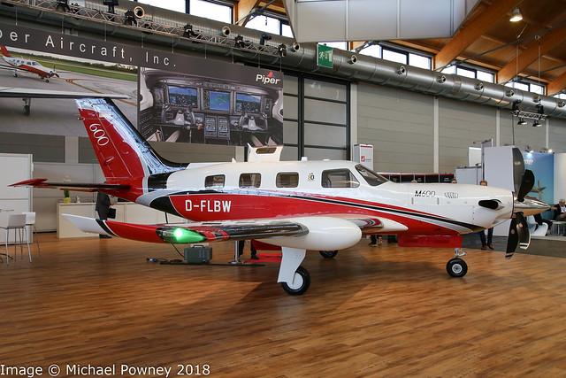 D-FLBW - 2017 build Piper M600, part of the indoor exhibition at Friedrichshafen during Aero 2018