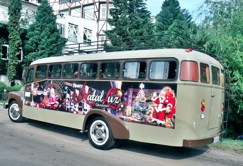 Christmas Light tour bus