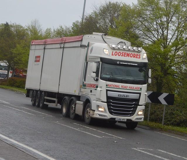 Loosemores Transport SJ66 HFK At Welshpool (Ex Yuill & Dodds)