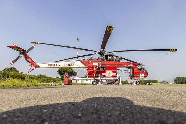 I-CFAN, Erickson S-64F Skycrane Vigili del Fuoco @ Lucca-Tassignano LIQL