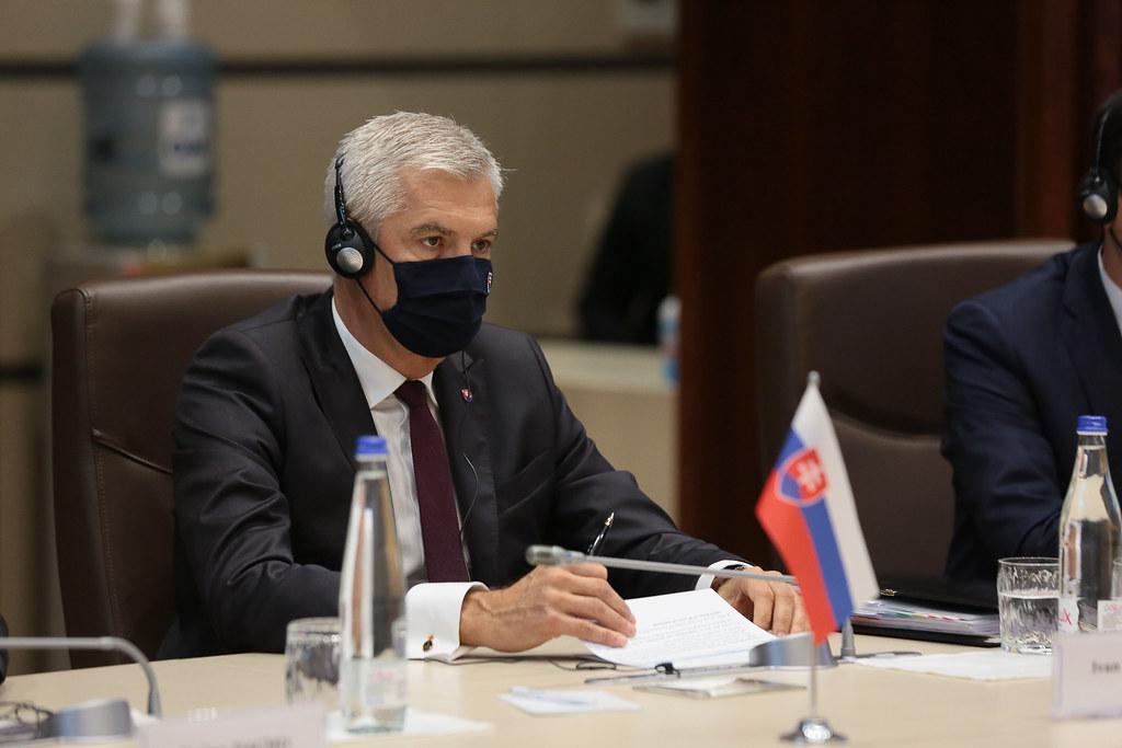 15.09.2021 Întrevederea Președintelui Parlamentului, Igor GROSU, cu Ministrul de Externe al Slovaciei, Ivan Korčok