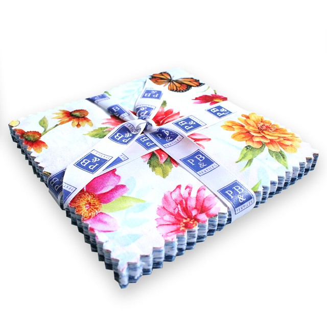P&B Textiles / Chinoisierie Garden / 5in Squares 42pcs / チャームパック