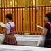 Thai women pray around the Chedi