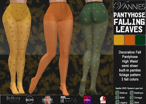 VANNIES Pantyhose Falling Leaves