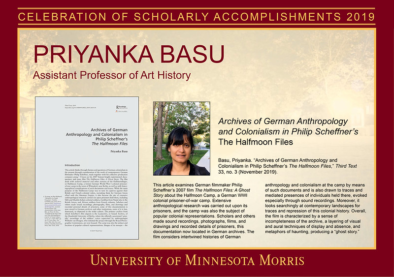 Celebration of Scholarly Accomplishments 2019 Individual Posters