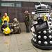 Dalek Arms Trader and Activist at DSEI Arms Fair