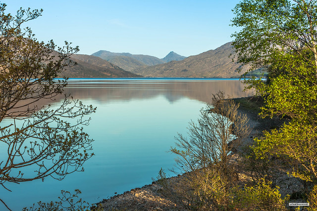 A heavenly calm at Loch Arkaig following sunrise. Only the dawn chorus of bird-song breaks, or should I say, enhances, the otherwise silent beauty, Inverness-shire, Scotland.