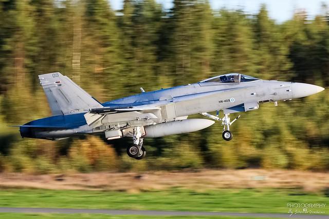 HN-409 Finnish Air Force F/A-18C Hornet, EFTP, Finland