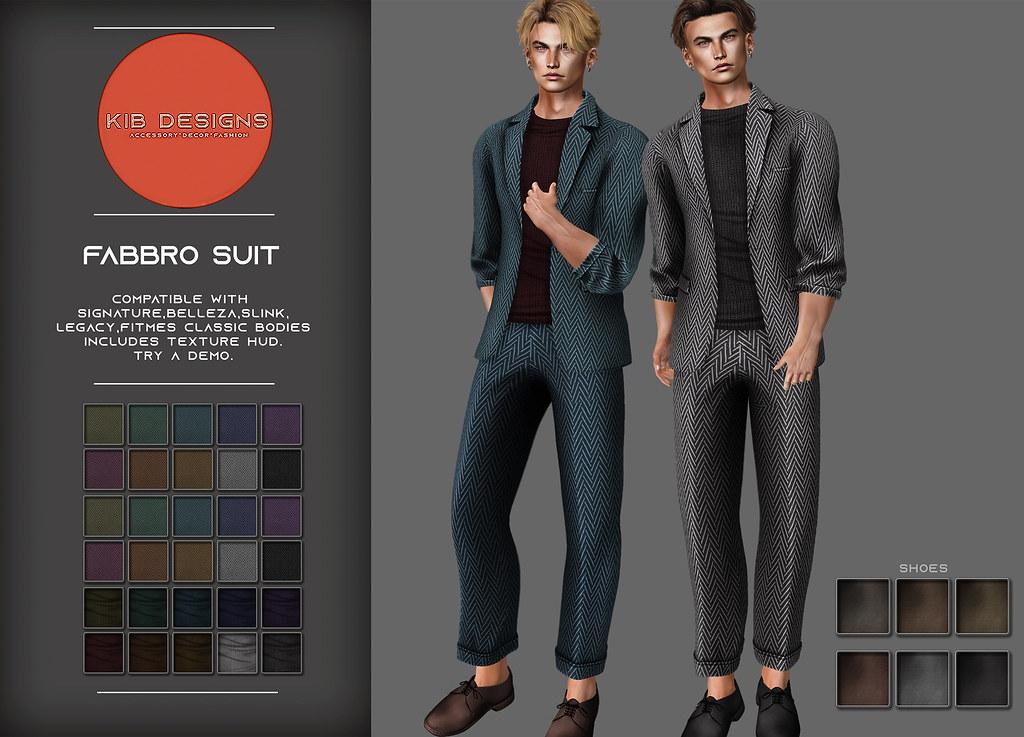 KiB Designs – Fabbro Suit @Sense Event 18th Sept.