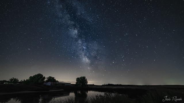 Vía Láctea en el Pozo de las Eras. Fuentepiñel