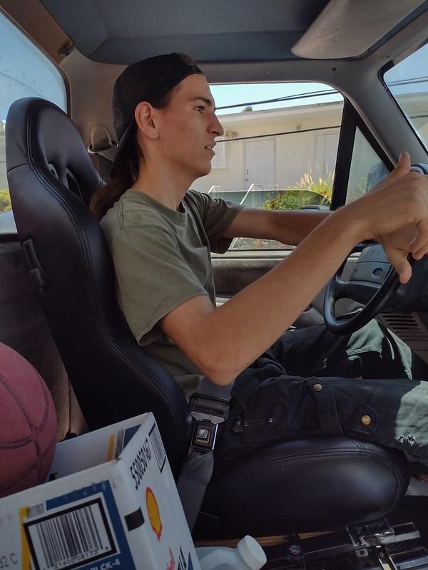 Aaron, driving