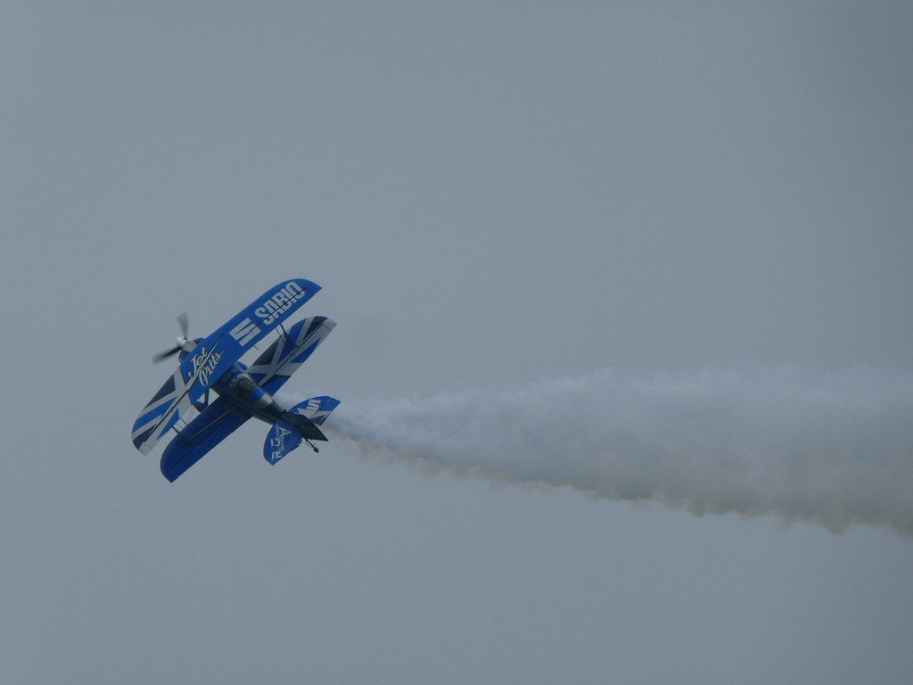 Super Pitts Muscle Plane on display at Bournemouth Air Show