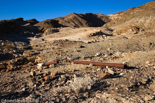 Old pipes along the Keane Spring Trail, Death Valley National Park, California