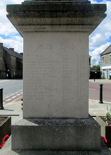Second World War Names, Wolsingham War Memorial