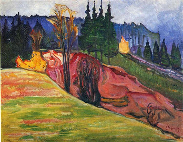 """Едвард Мунк """"Тюрингенський ліс"""", 1905"""