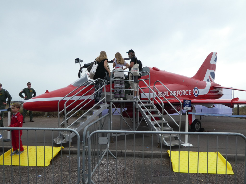 RAF Red Arrows Plane to view at the Bournemouth Air Show