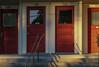 Four Doors at Golden Hour