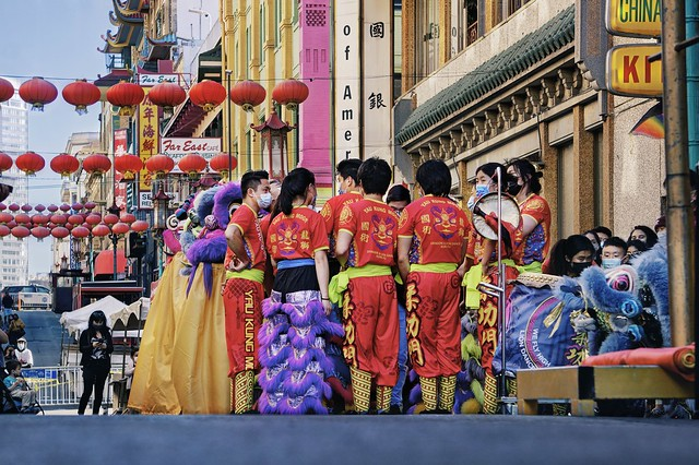 In anticipation of the dragon dance