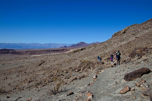 The trail to the outhouse from the Keane Wonder Mine, Death Valley National Park, California