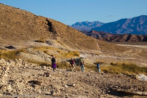 Hiking back toward the Keane Wonder Trailhead from Keane Spring, Death Valley National Park, California