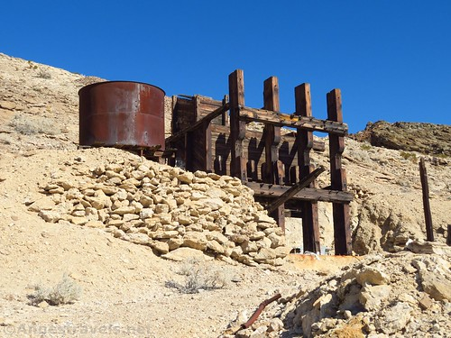 The stamp mill near John Cyty's Cabin, Death Valley National Park, California