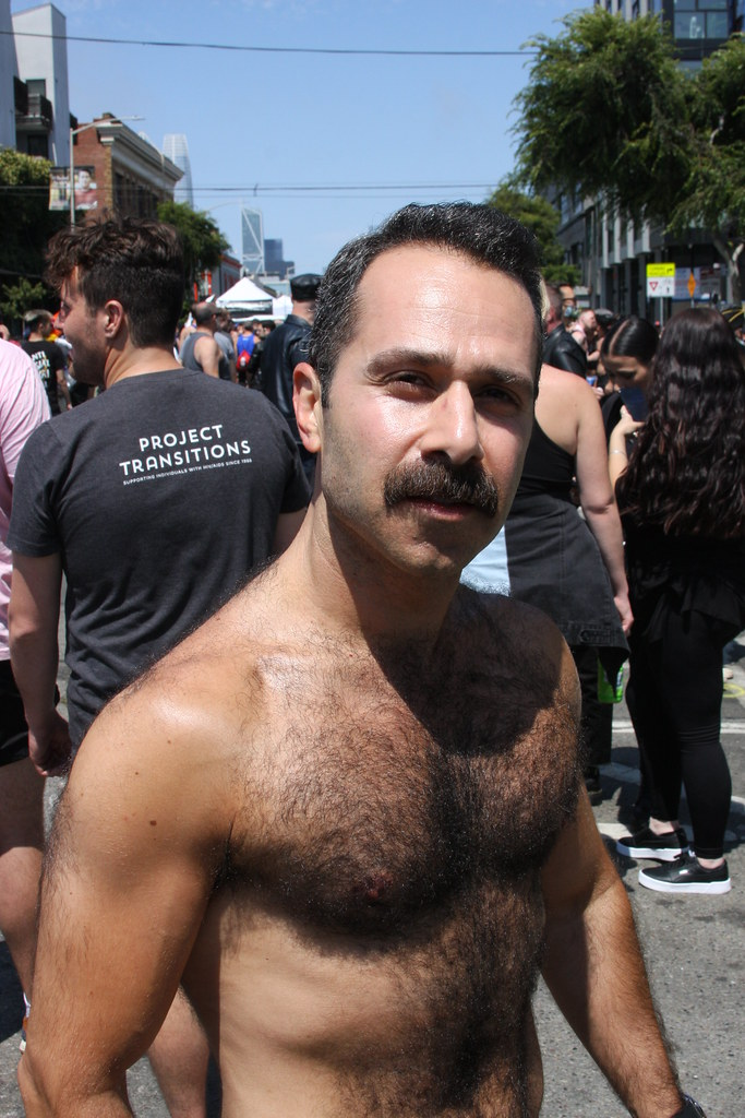 HANDSOME HAIRY HUNK ! photographed by ADDA DADA at FOLSOM STREET FAIR 2021 ! ( safe photo) (50+ faves)
