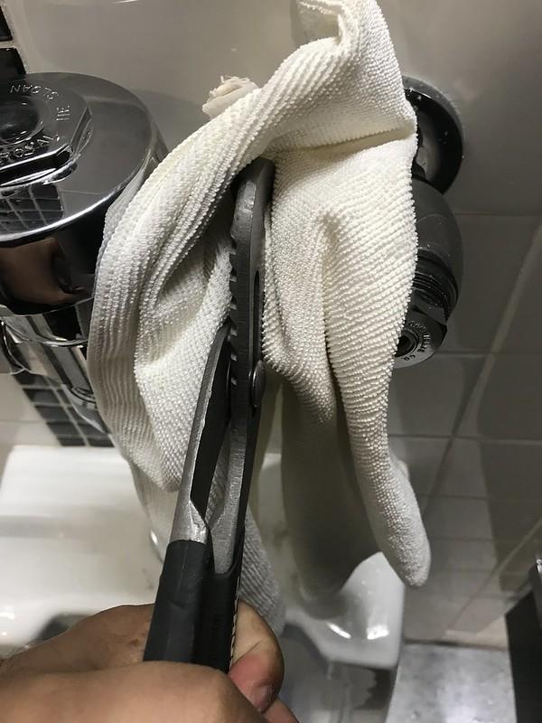 Use cloth to protect the chrome finish