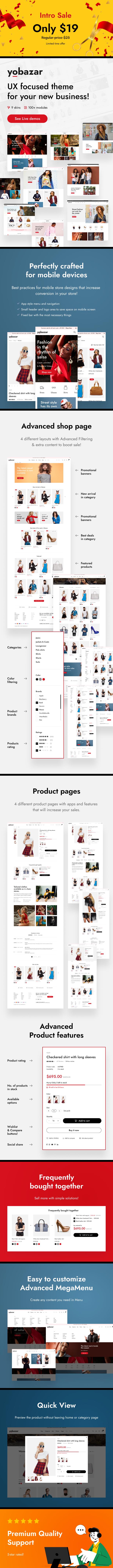 Yobazar - eCommerce HTML Template