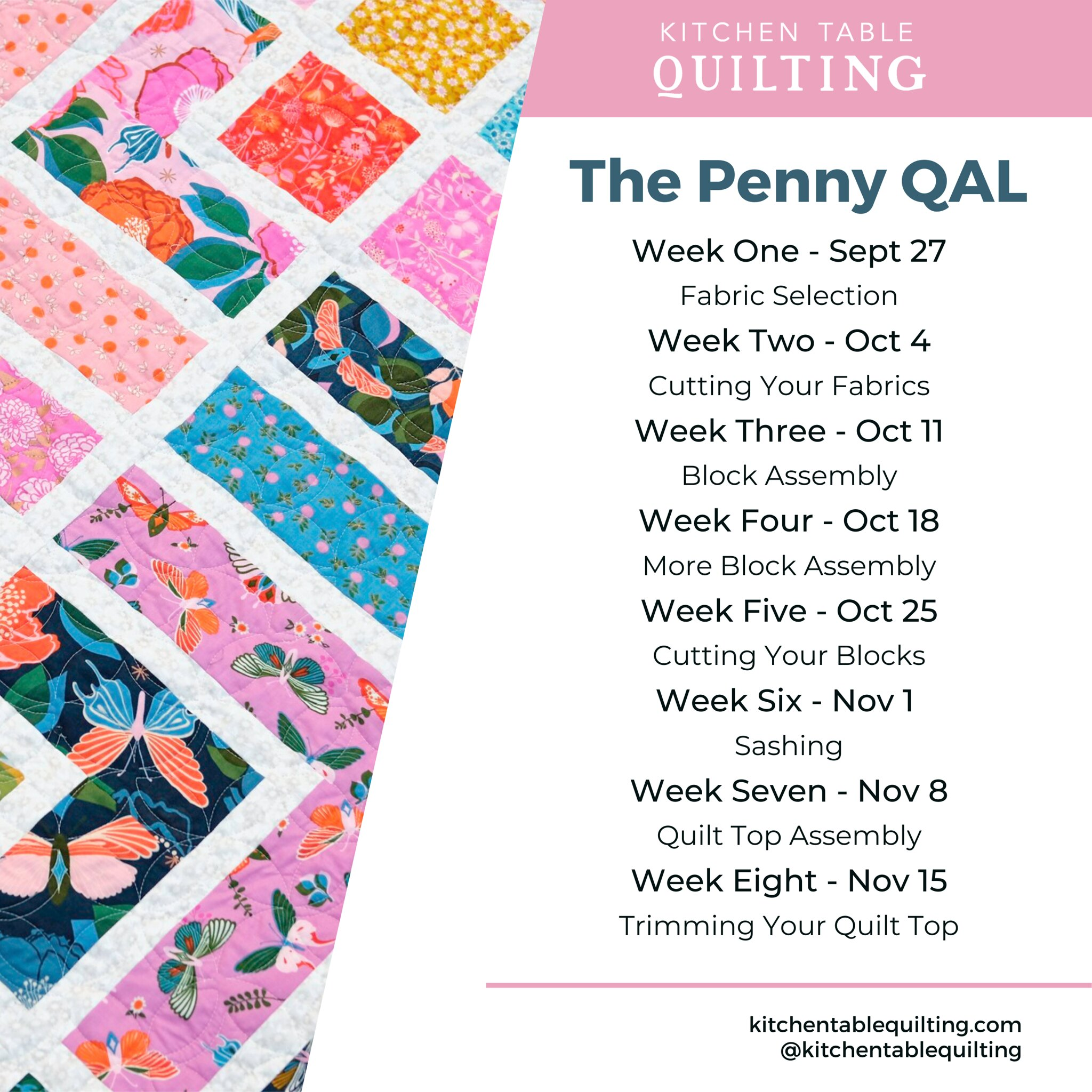 The Penny Quiltalong - Kitchen Table Quilting