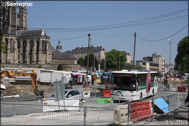 Mercedes-Benz Intouro – Transdev – STAO 72 (STAO PL, Société des Transports par Autocars de l'Ouest – Pays de la Loire) / TIS (Transports Interurbains de la Sarthe) n°12013