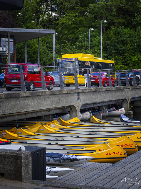 Canoes in a Row, for rent, Silkeborg 2020