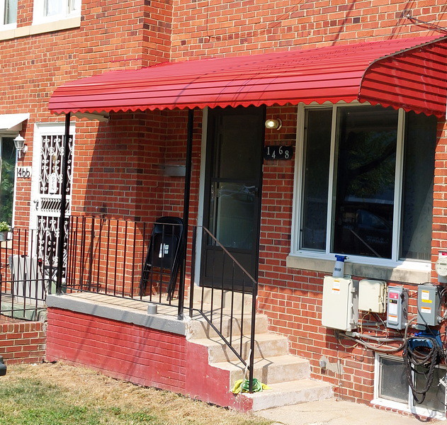 Red Porch Aluminum Awning