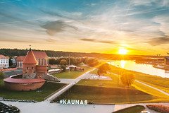 Sunset | Kaunas aerial #257/365