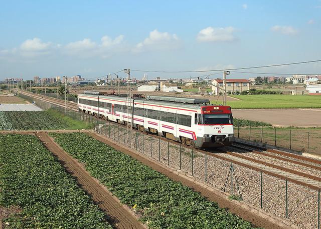Class 447 EMU, Alboraya, 10 July 2020