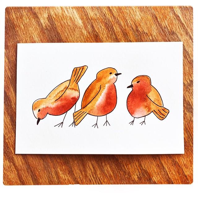Birdies Watercolor