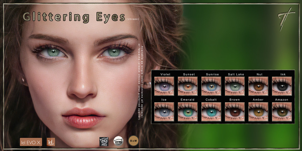 ! GIVEAWAY!  Tville – Glittering Eyes