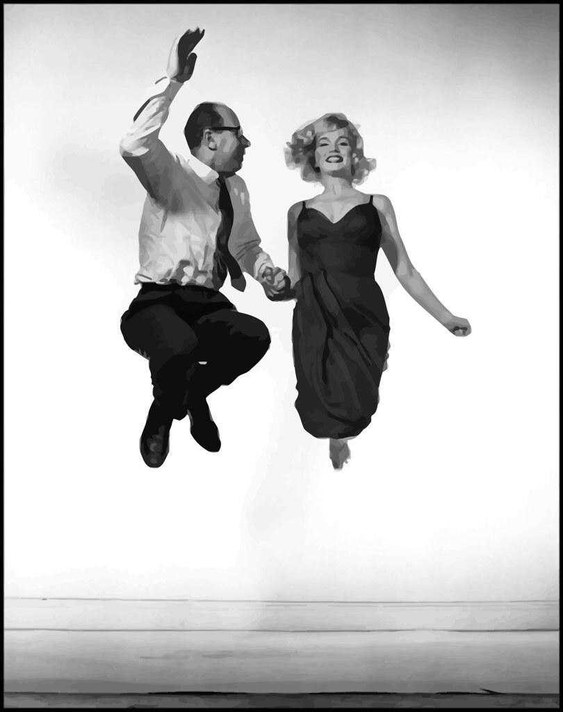 Autorretrato de Philippe Halsman con Marilyn Monroe en su estudio, Nueva York, 1959.