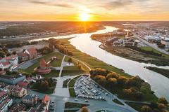 Sunset | Kaunas aerial