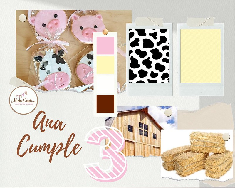 Amarillo Azul Brillante y Alegre Moda Moodboard Foto Collage