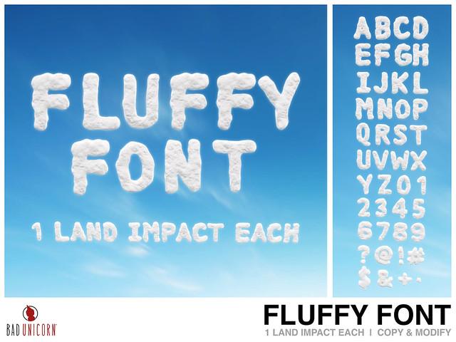 NEW! Fluffy Font @ Kustom9