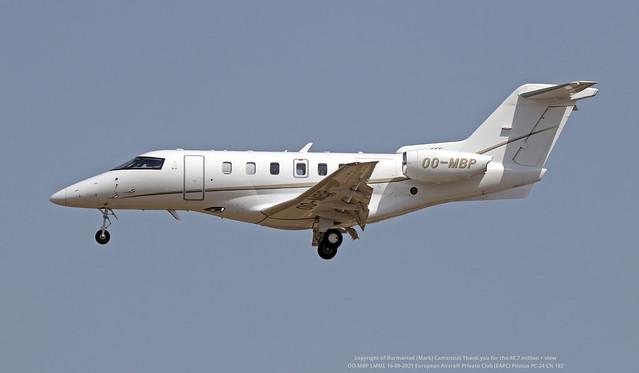 OO-MBP LMML 16-09-2021 European Aircraft Private Club (EAPC) Pilatus PC-24 CN 182