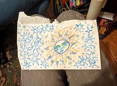 starry envelope art