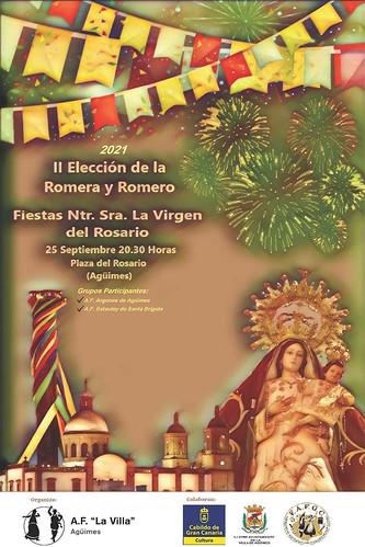 Cartel de la II Elección de la Romera y Romero de las fiestas de Nuestra Señora del Rosario