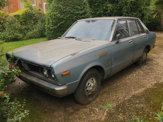 Abandoned 1970s Datsun 160J Violet