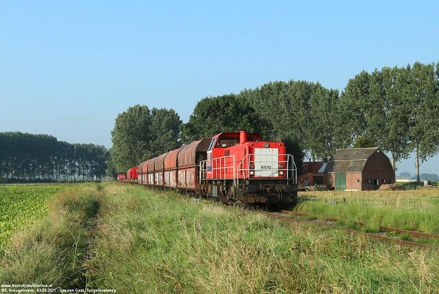 DBC 6510 + aanvoer Axel/Terneuzen & 6506 - Zandstraat (NL) 03-09-2021.