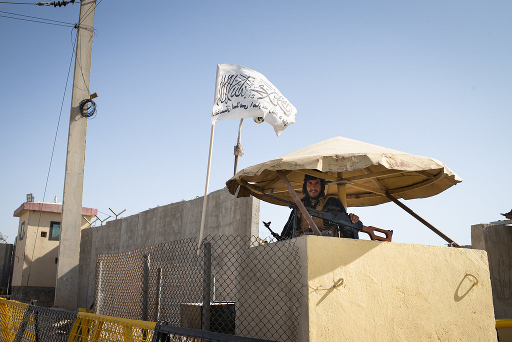 Taliban at Camp Souter, Kabul